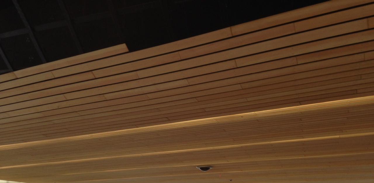 houten plafond station arnhem brandveilig shr